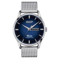 Tissot Heritage Visodate Powermatic 80 Blau Milanaise-Armband Herrenuhr 42mm T118.430.11.041.00