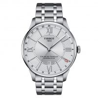 Tissot Chemin des Tourelles Powermatic 80 GMT Herrenuhr Automatik Silber T099.429.11.038.00 | Uhren-Lounge