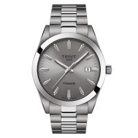 Tissot Gentleman Titanium Grau Quarz Herrenuhr 40mm T127.410.44.081.00