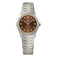 Ebel Sport Classic Lady Damenuhr mit Diamanten Bicolor Braun 29mm 1216464A   Uhren-Lounge