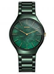 Rado True Thinline Green Leaf Grün 43mm Keramik Quarz Herrenuhr R27006912 | Sale | Uhren-Lounge