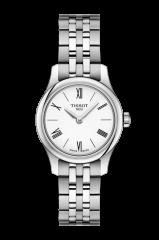 Tissot Tradition 5.5 Damenuhr 25mm mit Weißen Zifferblatt T063.009.11.018.00