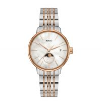 Rado Coupole Classic Damenuhr Mondphase Bicolor Perlmutt-Zifferblatt Quarz 34mm R22883943