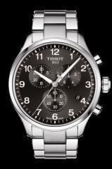 TISSOT CHRONO XL CLASSIC (T116.617.11.057.01) Herren Armband Chronograph 45mm mit Schwarzen Zifferblatt
