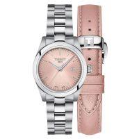 Tissot T-My Lady Damenuhr 29mm Quarz Rosa Silber Edelstahl- & Leder-Armband T132.010.11.331.00