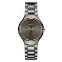 Rado True Thinline S Damenuhr Grau Anthrazit Keramik Quarz 30mm R27956132 | Uhren-Lounge