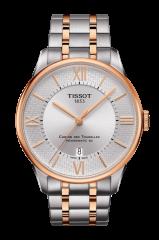 Tissot Uhr Herren Silber Rosegold Bicolor Chemin des Tourelles Powermatic 80 Swiss Special Edition T0994072203801