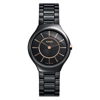 Rado True Thinline S Damenuhr Schwarz Keramik Quarz 30mm R27742152 | Uhren-Lounge