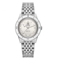 Rado Captain Cook Damenuhr Automatik Silber Weiß Edelstahl-Armband 37mm R32500013 | Uhren-Lounge