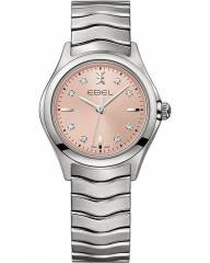 Ebel Wave Lady Quarz Uhr 1216217 mit 8 Diamanten