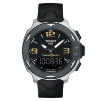 Tissot T-Race Touch Chronograph 42mm Schwarz Analog & Digital Quarz Silikon-Armband T081.420.17.057.00
