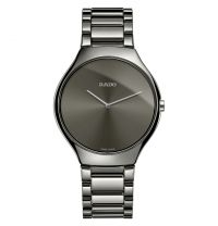 Rado True Thinline grau anthrazit Keramik Uhr Herren & Damen 39mm Quarz R27955122 | Uhren-Lounge