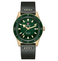 Rado Captain Cook Automatic 42mm Bronze Grün Leder-Armband Herrenuhr R32504315   Uhren-Lounge