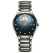Rado True Secret Diamonds Automatik Uhr mit blauem Zifferblatt & Diamanten 40mm R27108732 | Uhren-Lounge