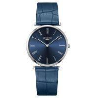 Longines La Grande Classique Herrenuhr Blau Leder-Armband Quarz 36mm L4.755.4.94.2