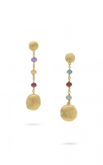 Marco Bicego Africa Ohrhänger 18K Gold mit bunten Edelsteinen OB1581-MIX02 | Uhren-Lounge