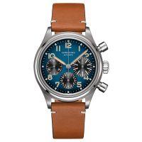 Longines Avigation BigEye Chronograph Herrenuhr Automatik 41mm Blau Leder-Armband L2.816.1.93.2