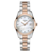 Longines Conquest Classic Damenuhr Bicolor mit Diamanten 34mm Quarz L2.386.3.87.7