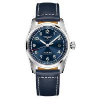 Longines Spirit Automatik 40mm Blau Leder-Armband Herrenuhr Chronometer L3.810.4.93.0