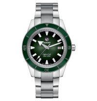 Rado Captain Cook Herrenuhr Automatik 42mm Silber mit grünem Zifferblatt & Edelstahl-Armband R32105313   Uhren-Lounge