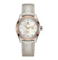 Rado Golden Horse Diamonds Damenuhr Perlmutt Diamanten Leder-Armband HyperChrome Classic R33102905
