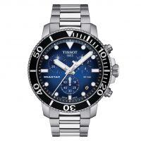 Tissot Seastar 1000 Chronograph Schwarz Blau 45mm Edelstahl-Armband Quarz T120.417.11.041.01 | Uhren-Lounge