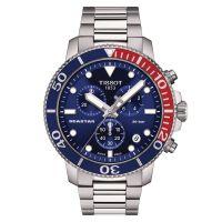 Tissot Seastar 1000 Chronograph Blau Rot 45mm Edelstahl-Armband Quarz Herrenuhr T120.417.11.041.03