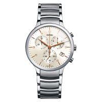 Rado Centrix Chronograph Herrenuhr XL 40mm Silber Grau Keramik-Armband Quarz R30122113
