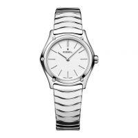 Ebel Sport Classic Lady Damenuhr silber poliert Zifferblatt weiß 29mm Quarz 1216448A | Uhren-Lounge