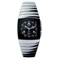 Rado Sintra Chronograph XXL Herrenuhr Keramik Silber-Grau Zifferblatt Schwarz Quarz R13870152 | Uhren-Lounge