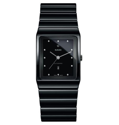 Rado Ceramica Automatic Diamonds Herrenuhr mit Diamanten Keramik Schwarz Jubile R21807702 | Uhren-Lounge