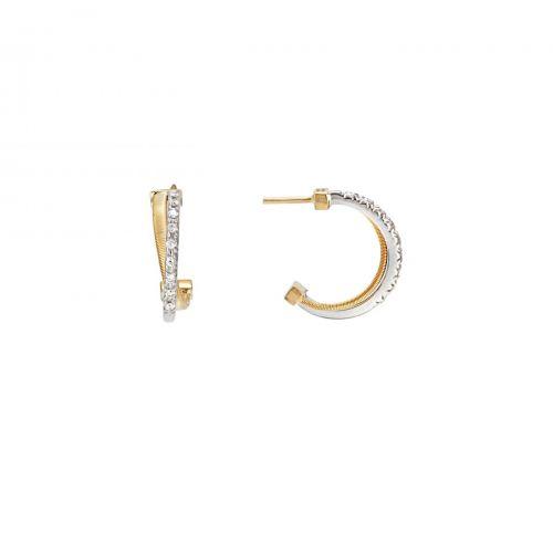 Marco Bicego Ohrringe Goa Gelbgold & Weißgold mit Diamanten 18 Karat OG331 B YW