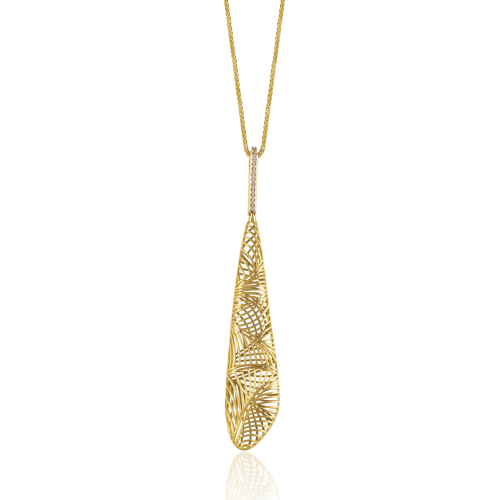 Luisa Rosas Tribe Anhänger mit Kette Gold mit Diamanten LRTR076