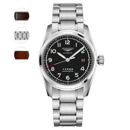 Longines Spirit Prestige Edition 40mm Schwarz Automatic Chronometer Herrenuhr L3.810.4.53.9 | Uhren-Lounge