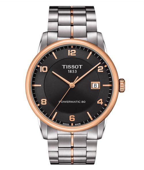 Tissot Luxury Powermatic 80 Automatic Gent Rosegold Bicolor schwarzes Zifferblatt T086.407.22.067.00   Uhren-Lounge
