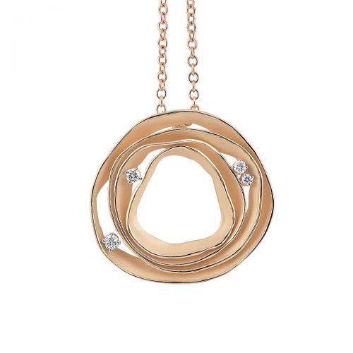 Annamaria Cammilli Dune Halskette mit Anhänger 18 Karat Orange Gold mit Diamanten GPE0857J