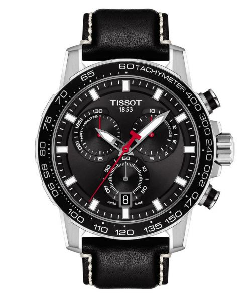 Tissot Supersport Chrono Schwarz Leder-Armband Herren Chronograph 45mm Quarz T125.617.16.051.00 | Uhren-Lounge