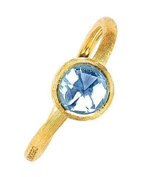 Marco Bicego Jaipur Ring Gold mit blauem Topas Edelstein AB471-TP01   Uhren-Lounge
