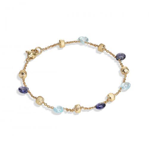 Marco Bicego Paradise Armband mit blauen Topas & Iolit Edelsteinen Gold BB765 MIX240 Y