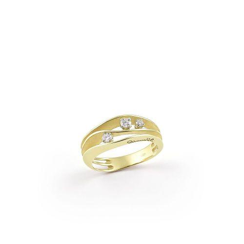 Annamaria Cammilli Dune Ring Lemon Bamboo Gold mit Diamanten GAN2662Y | Uhren-Lounge