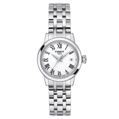 Tissot Classic Dream Damenuhr 28mm Quarz Silber Weiß Edelstahl-Armband T129.210.11.013.00