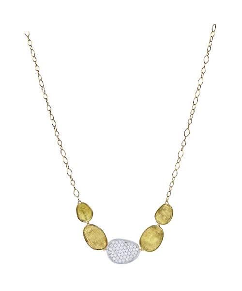 Marco Bicego Halskette Gold mit Diamanten Lunaria Diamonds CB1974-B | Schmuck Sale | Uhren-Lounge