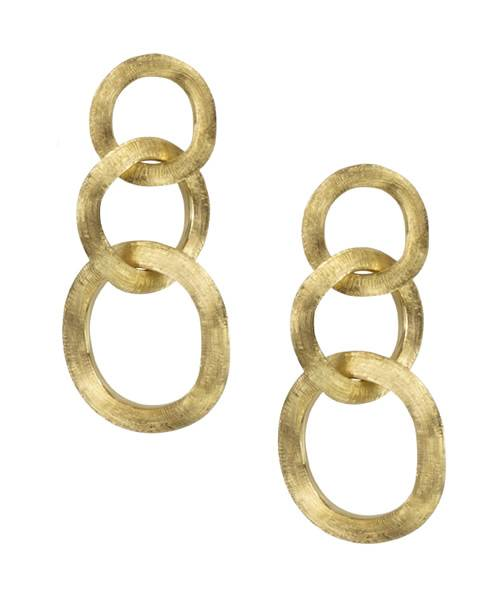 Marco Bicego Damen Ohrringe Jaipur Link aus 18 K Gelbgold OB940-P