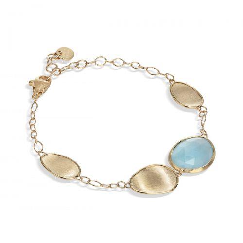 Marco Bicego Armband Gold mit blauem Aquamarin Edelstein Lunaria BB1981 AQD Y