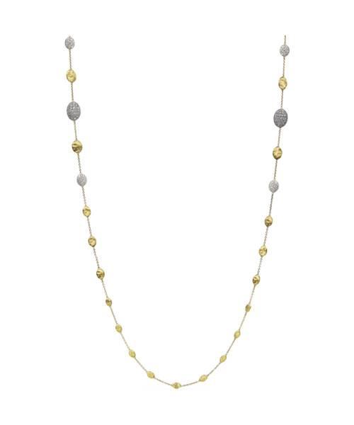 Marco Bicego Kette Damen Gelbgold 18 Karat mit Diamanten Siviglia Halskette CB1731-B2  | Uhren-Lounge