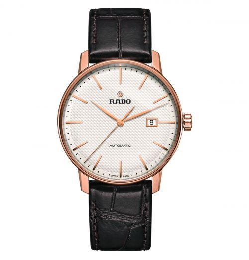 Rado Coupole Classic Automatic Herrenuhr 41mm Rosegold Leder-Armband R22877025