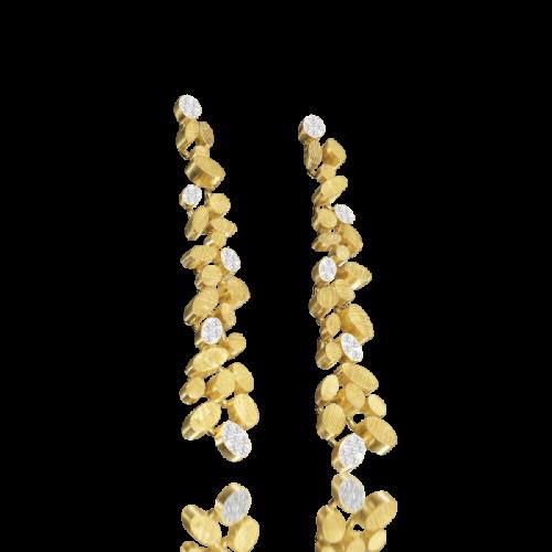 Luisa Rosas BE Ohrringe Ohrhänger L Gold mit Diamanten LRBE006