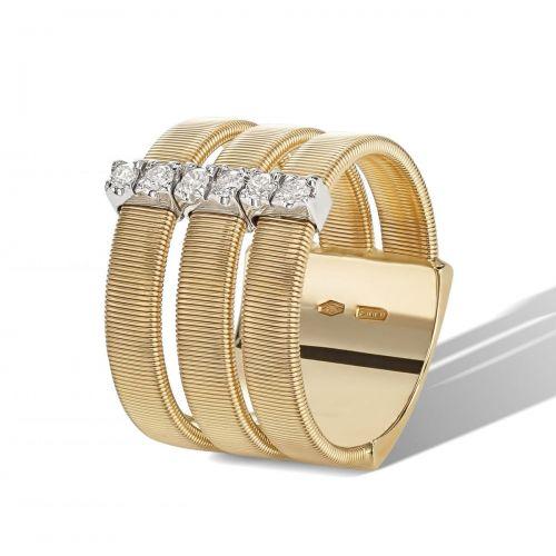 Marco Bicego Ring Gold mit Diamanten 3 Stränge Masai AG345 B YW