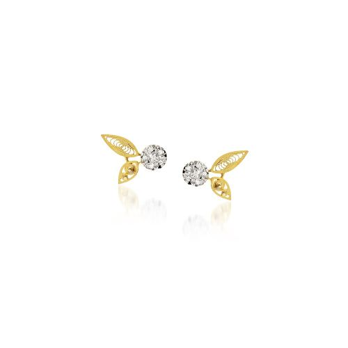 Luisa Rosas Ohrringe Gold mit Diamanten House of Filigree Ohrstecker HBR5505.CE
