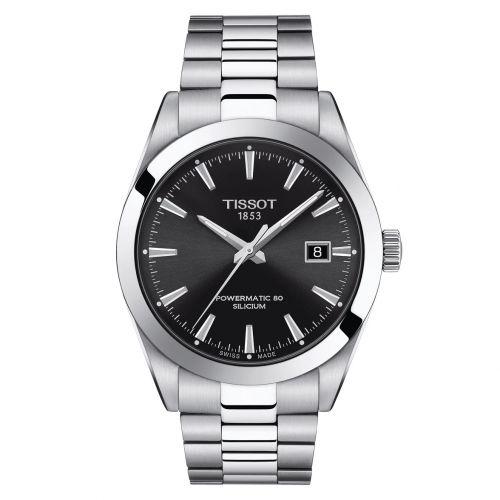Tissot Gentleman Powermatic 80 Silicium Schwarz Edelstahl-Armband Herrenuhr 40mm T127.407.11.051.00 | Uhren-Lounge